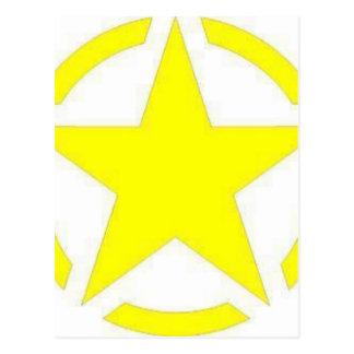 Cartão Postal estrela do exército