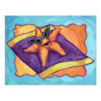 Cartão Postal Estrela do mar Sunbathing