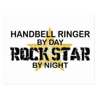 Cartão Postal Estrela do rock da campainha do Handbell em a