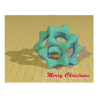 Cartão Postal Estrela verde do Natal