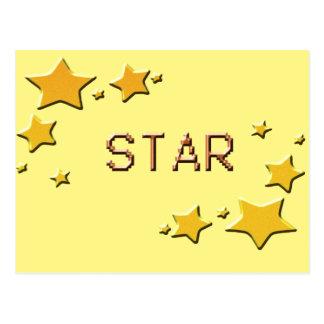 Cartão Postal estrelas