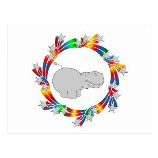 Cartão Postal Estrelas do hipopótamo