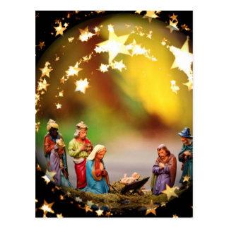 Cartão Postal Estrelas infantis de Jesus da Virgem Maria da ucha