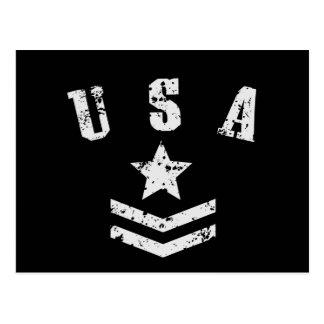Cartão Postal Estrelas & listras dos EUA