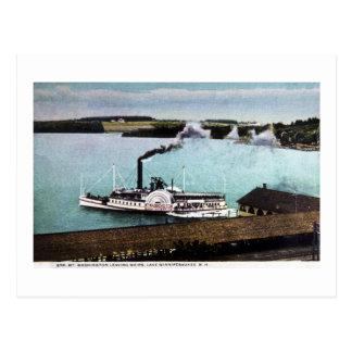 Cartão Postal Estreptococo. Mt. Washington, lago Winnipesaukee,
