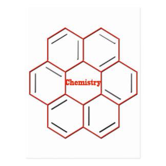 Cartão Postal Estrutura química na química