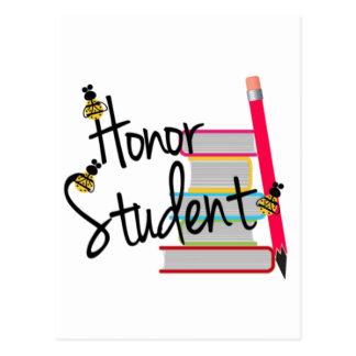 Cartão Postal Estudante da honra
