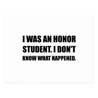 Cartão Postal Estudante da honra o que aconteceu