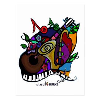 "Cartão Postal Estúdio Burke ""jazzístico """