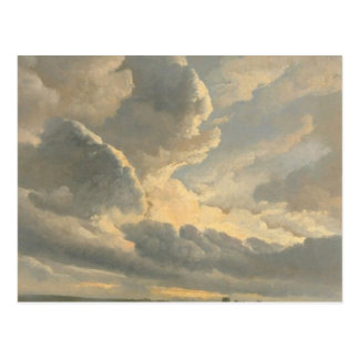 Cartão Postal Estudo das nuvens com um por do sol perto de Roma