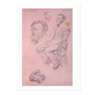 Cartão Postal Estudo de Edgar Degas | para o retrato de Edouard