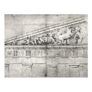 Cartão Postal Estudo de um frontão do Partenon