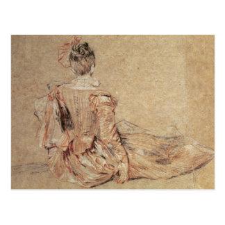 Cartão Postal Estudo de uma mulher vista da parte traseira,