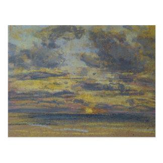 Cartão Postal Estudo do céu com ajuste Sun, c.1862-70