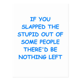 Cartão Postal estúpido