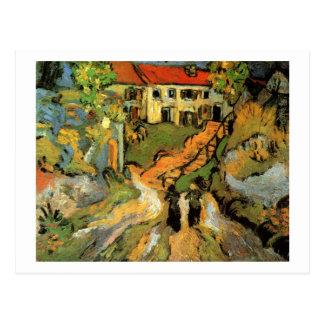 Cartão Postal Etapas da rua da vila duas figuras belas artes de