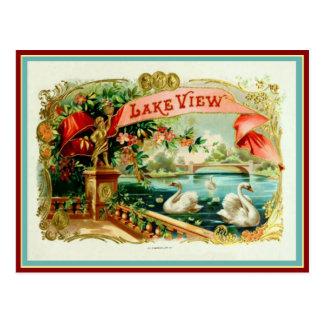 Cartão Postal Etiqueta da caixa de charuto do vintage