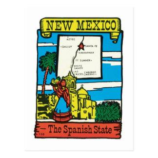 Cartão Postal Etiqueta do estado de New mexico nanômetro das