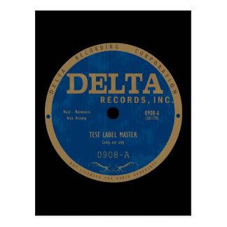 Cartão Postal Etiqueta dos registros do delta