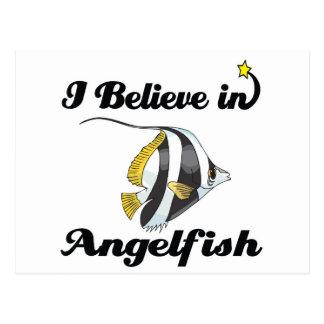 Cartão Postal eu acredito no angelfish