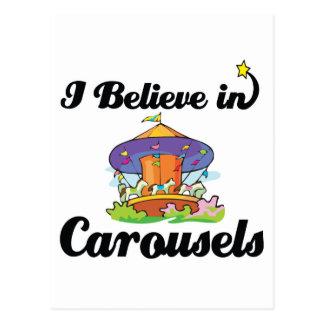 Cartão Postal eu acredito nos carrosséis