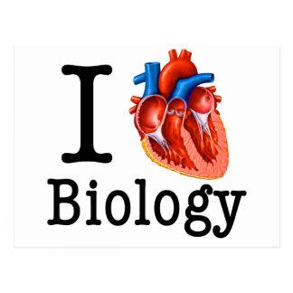 Cartão Postal Eu amo a biologia