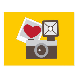 Cartão Postal Eu amo a câmera do vintage