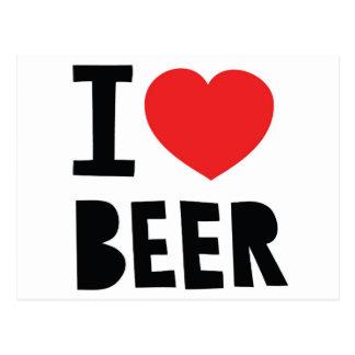 Cartão Postal Eu amo a cerveja