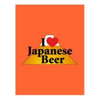 Cartão Postal Eu amo a cerveja japonesa