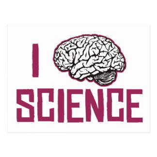 Cartão Postal Eu amo a ciência (o cérebro)