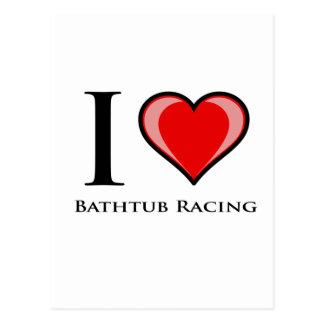 Cartão Postal Eu amo a competência da banheira