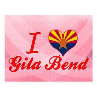 Cartão Postal Eu amo a curvatura de Gila, arizona