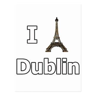 Cartão Postal Eu amo a falha do turista de Dublin
