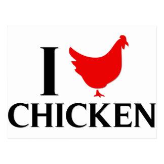 Cartão Postal Eu amo a galinha