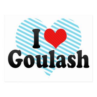 Cartão Postal Eu amo a goulash