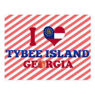 Cartão Postal Eu amo a ilha de Tybee, Geórgia