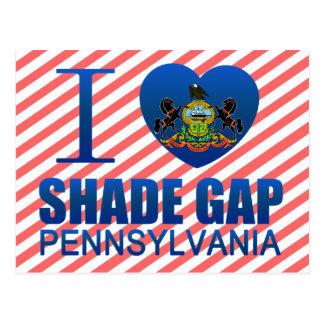 Cartão Postal Eu amo a máscara Gap, PA