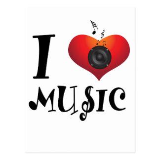 Cartão Postal Eu amo a música