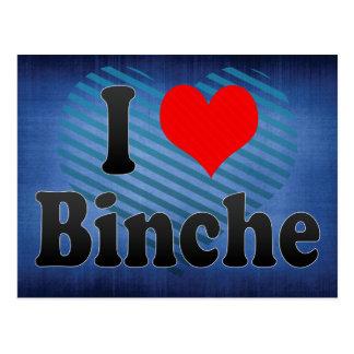 Cartão Postal Eu amo a renda de Binche, Bélgica