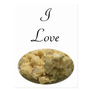 Cartão Postal Eu amo a salada de batata