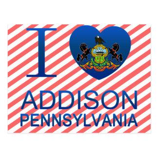 Cartão Postal Eu amo Addison, PA