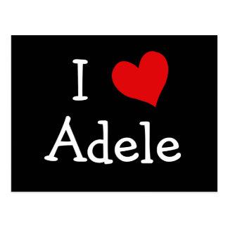 Cartão Postal Eu amo Adele