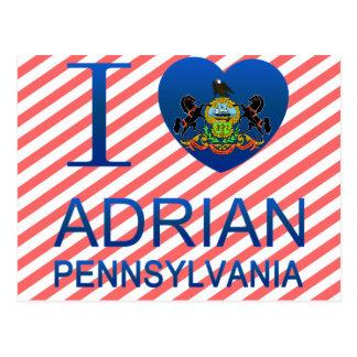 Cartão Postal Eu amo Adrian, PA
