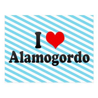 Cartão Postal Eu amo Alamogordo, os Estados Unidos