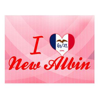 Cartão Postal Eu amo Albin novo, Iowa