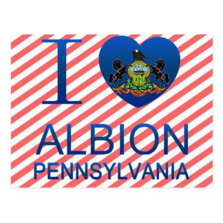 Cartão Postal Eu amo Albion, PA