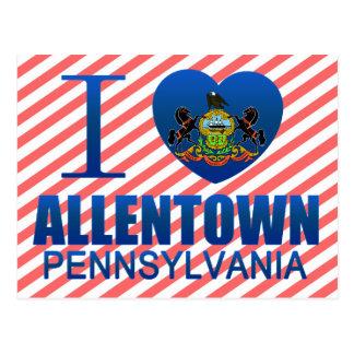 Cartão Postal Eu amo Allentown, PA