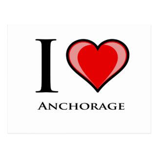 Cartão Postal Eu amo Anchorage