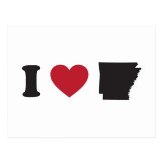 Cartão Postal Eu amo Arkansas