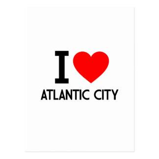 Cartão Postal Eu amo Atlantic City